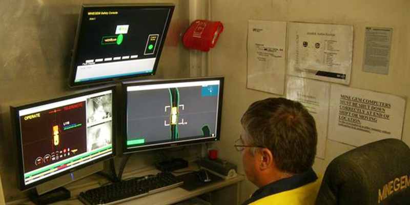 Byrnecut remote bogger operator monitoring underground mining development
