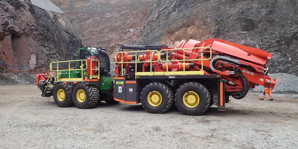 Byrnecut Raisedrilling mobile fleet Rhino 100HM